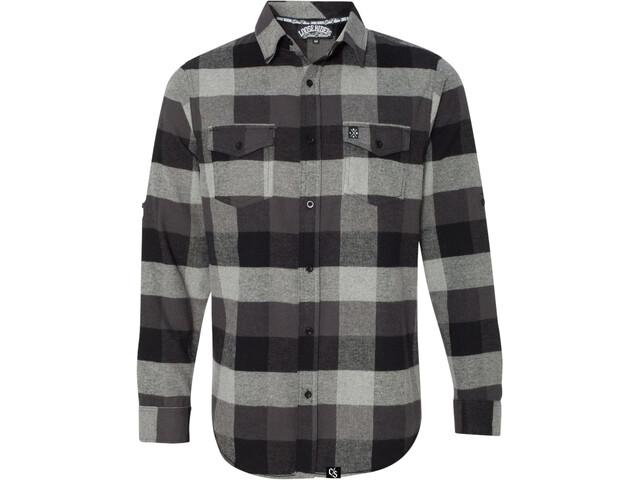 Loose Riders LS Flannel Shirt Men, grey